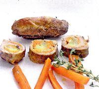 Rulada cu morcovi si pulpa de porc
