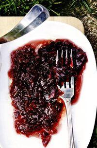 Chutney de ceapa cu vin rosu