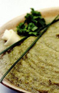 Unt de fasole verde cu alge