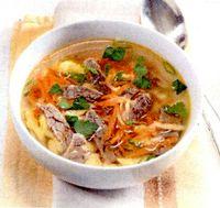Supa de pui cu zdrente