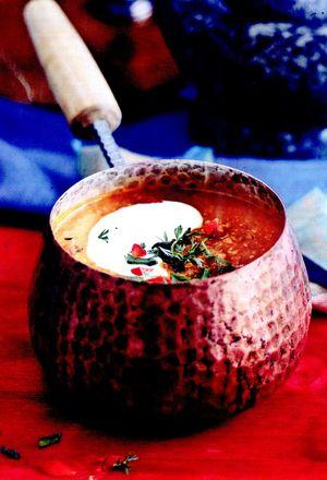 Supa de linte cu ghimbir