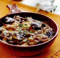 Ciuperci gatite taraneste cu ceapa si vin