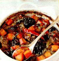 Mancare de prune uscate cu carne