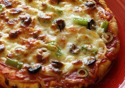 Pizza cu masline si porumb