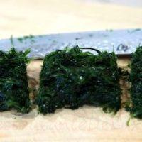 Alge marine cu sos de portocale si susan