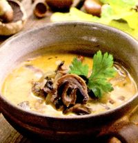 Supa de vita cu ciuperci si zarzavat