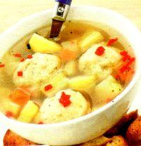 Supa de zarzavat cu galuste de gris
