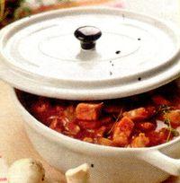 Tocana de vitel cu orez si ciuperci