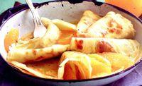 Clătite cu sos de portocale