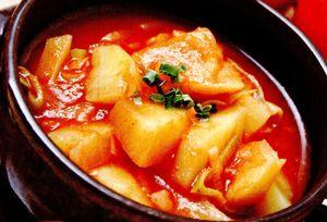Mancare de cartofi cu ardei iute