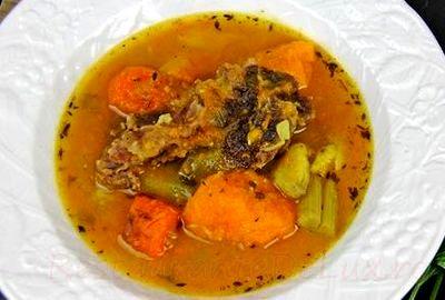 Supa de vita cu dovleac