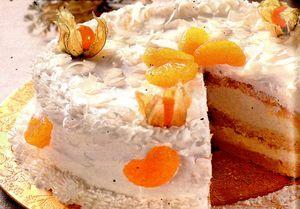Tort cu portocale si cocos