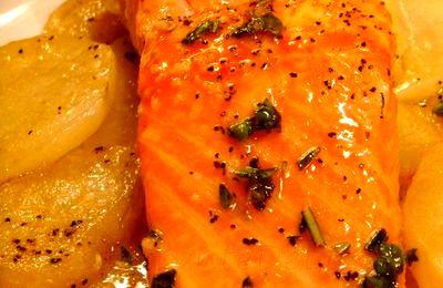File de somon cu cartofi