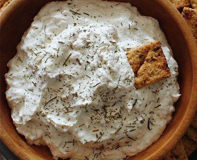 Pasta de branza cu verdeturi