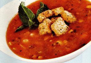 Crutoane din chifle prajite pentru supa