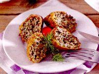 Crochete de carne cu ciuperci