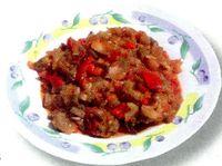 Mancare de ceapă şi carne de viţel