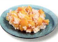 Fructe marinate cu orez si portocale