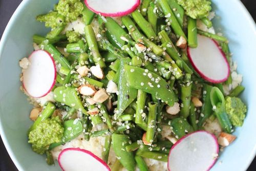 Salata de fasole verde si somon afumat