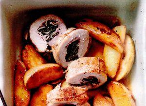 Rulada de porc cu garnitura de cartofi