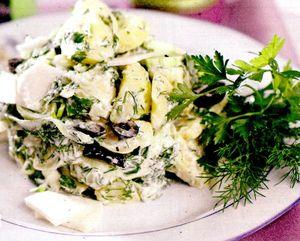 Salata de praz si cartofi