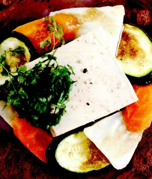Carpaccio de legume cu foie gras