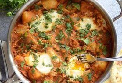 Curry de cartofi cu oua
