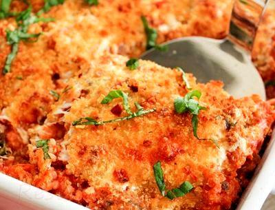 Lasagna cu pui, quinoa si spanac