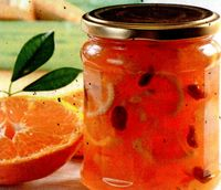 Marmeladă de zmeură, mentă şi rubarbăr