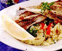 Peste cu sos de soia si cuscus