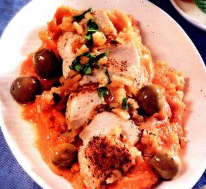 Pui_cu_masline_si_piure_de_cartofi