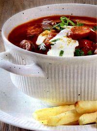 Supa de carnati cu curry si smantana