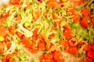 Supa de legume cu parmezan