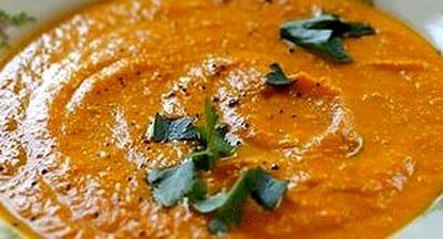 Supa de morcovi cu pasta de caju