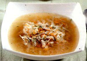 Supa de varza cu mamaliga si slanina