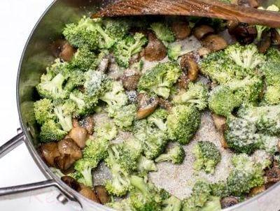 Paste cu broccoli si ciuperci