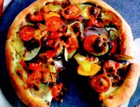 Pizza cu legume si oua