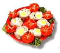 Ruladă de ouă umplută cu legume