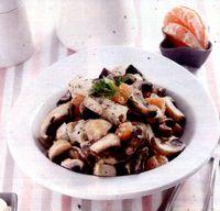 Chicken and mushrooms salad