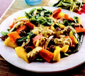 Salata de pui cu mango si curry