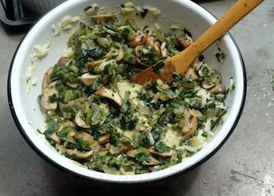 Sufleu de orez cu spanac si parmezan