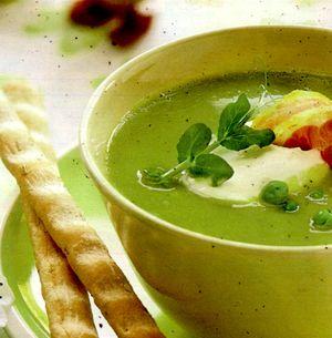 Supa crema de mazare cu menta