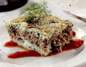 Budinca cu carne si ciuperci