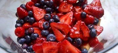 Forest berries in kirsch