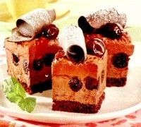 Prajitura cu ciocolata, nes si cirese