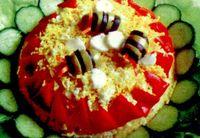 Salata cu orez, castravete si masline