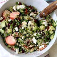 Salata de bulgur cu struguri si menta