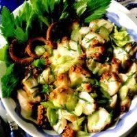 Salata de caracatita cu usturoi