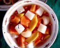 Salata de fructe cu nuca de cocos