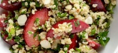 Plum Salad above